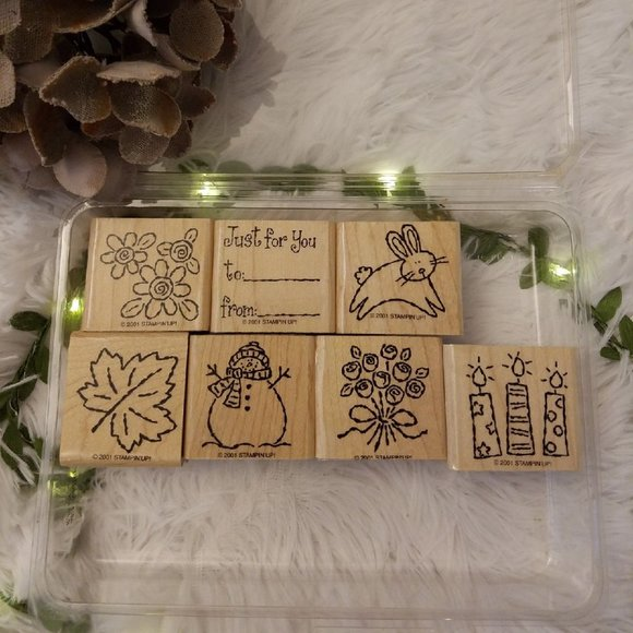 Vtg Stampin' Up! TAGS & MORE (7) 2001